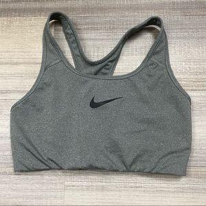 Nike Athletic Racerback Sports Bra Grey/Black